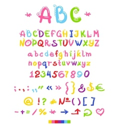Font letters and numbers vector