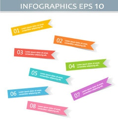 Modern infographics colorful stickers design vector