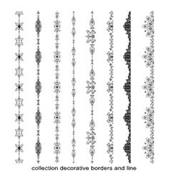 Set of doodle elements borders vector image