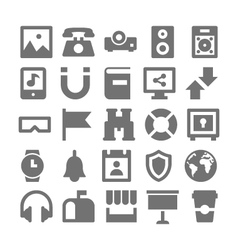 Advertising and media icons 4 vector
