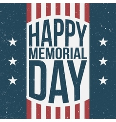 Happy memorial day patriotic background vector