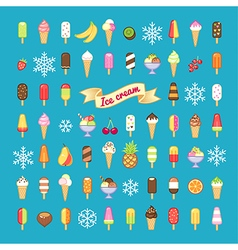 icecream set vector image