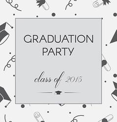 Graduation invitation vector