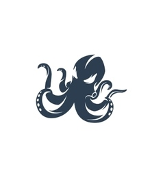 Octopus logo on white background - stock vector