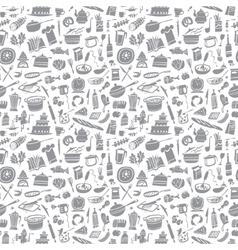cookery seamless background vector image