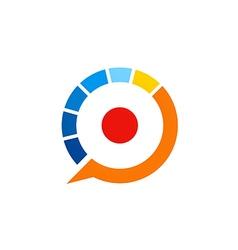 Automotive speed colorful logo vector