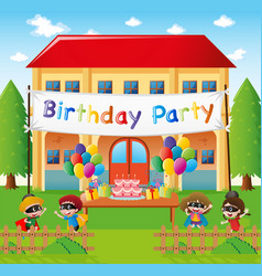 Birthday party at home vector