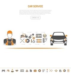 Car Service Concept vector image vector image