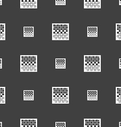Checkers board icon sign seamless pattern on a vector
