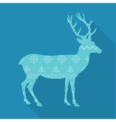 Christmas deer in scandinavian style vector