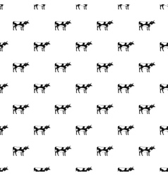 Cow pattern simple style vector
