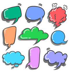 cute speech bubble style set vector image