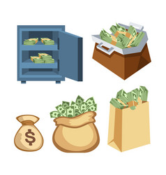 dollar paper business finance money stack symbols vector image
