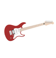 Electric guitar flat vector