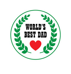 Fathers day crest vector