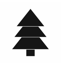 Fir tree icon black simple style vector