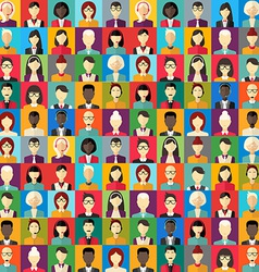 Flat design abstract background Different people vector image