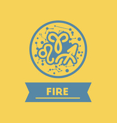 Flat icon zodiacal element of fire vector