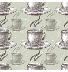 hand drawn tea seamless vector image