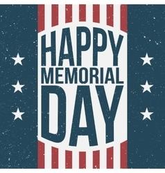Happy memorial day patriotic background vector