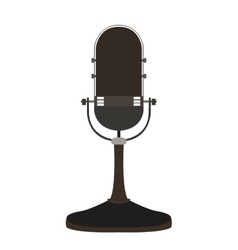 Isolated retro microphone vector image
