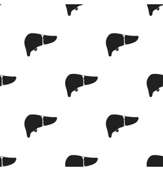 Liver icon in black style isolated on white vector