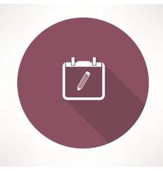 Personal calendar icon vector