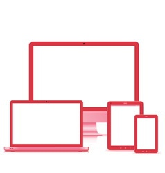 popular full responsive web design electronic devi vector image vector image
