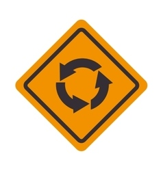 Roundabout signal traffic road design vector