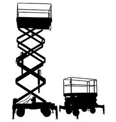 Scissor lift vector image