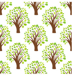 seamless pattern texture background with trees vector image vector image