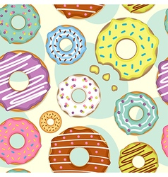 Seamless pattern with donuts vector