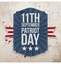 September 11th patriot day paper tag vector