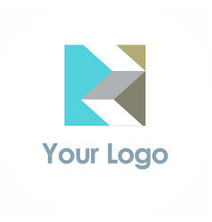 Shape 3d square logo vector