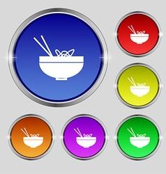 Spaghetti icon sign round symbol on bright vector
