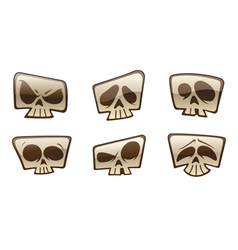square skull icons vector image