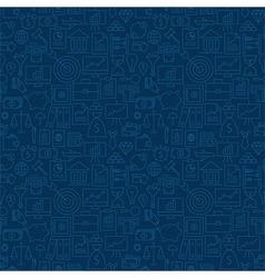 Thin banking line business finance dark blue vector