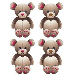 Brown teddy bear2 vector