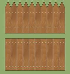 Wooden fence set vector image