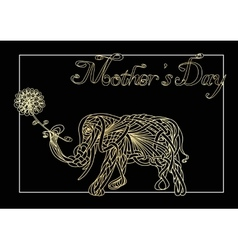 Card of mothers day vector