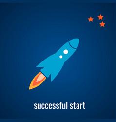 rocket launch background vector image