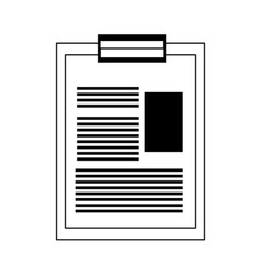 Medical report icon vector