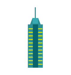 Urban skyscraper isolated icon vector