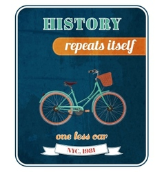 Hipster bicycle promo poster vector image