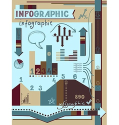 Retro infographics elements set vector