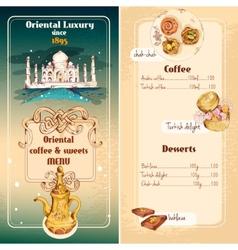 Oriental sweets menu vector