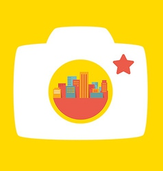 Photo in a big city vector
