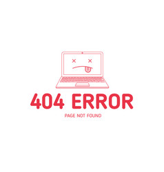 404 com error line red vector