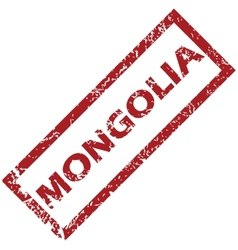 New mongolia rubber stamp vector