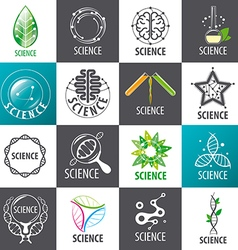 Large set of logos science vector